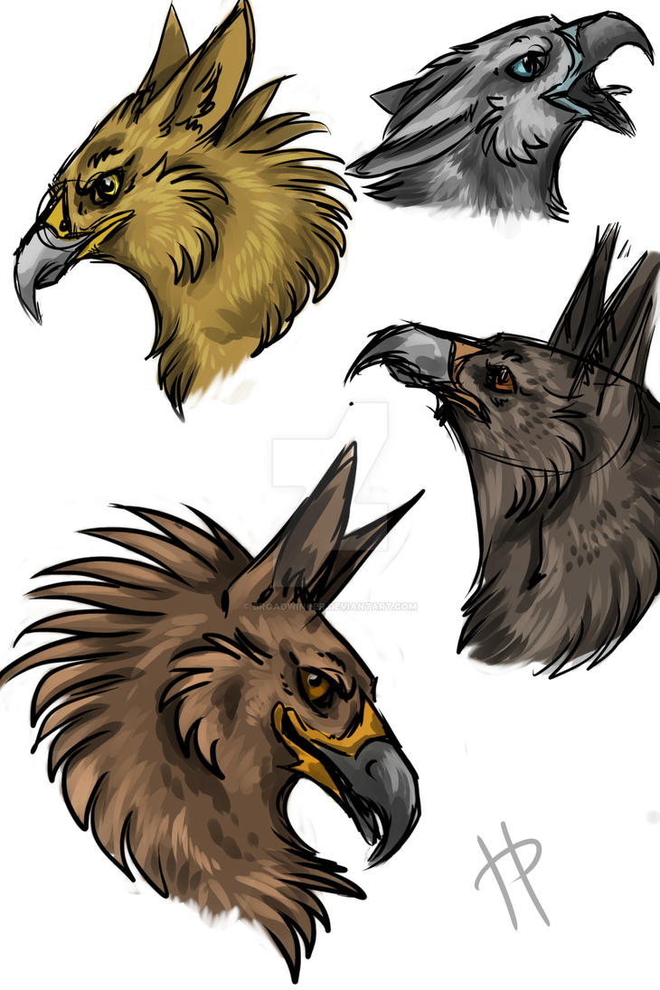 Gryphon sketches by Broadwinger