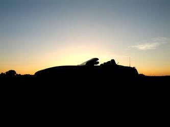 BMW Z4 sunset silhouette by JoeBlack1978