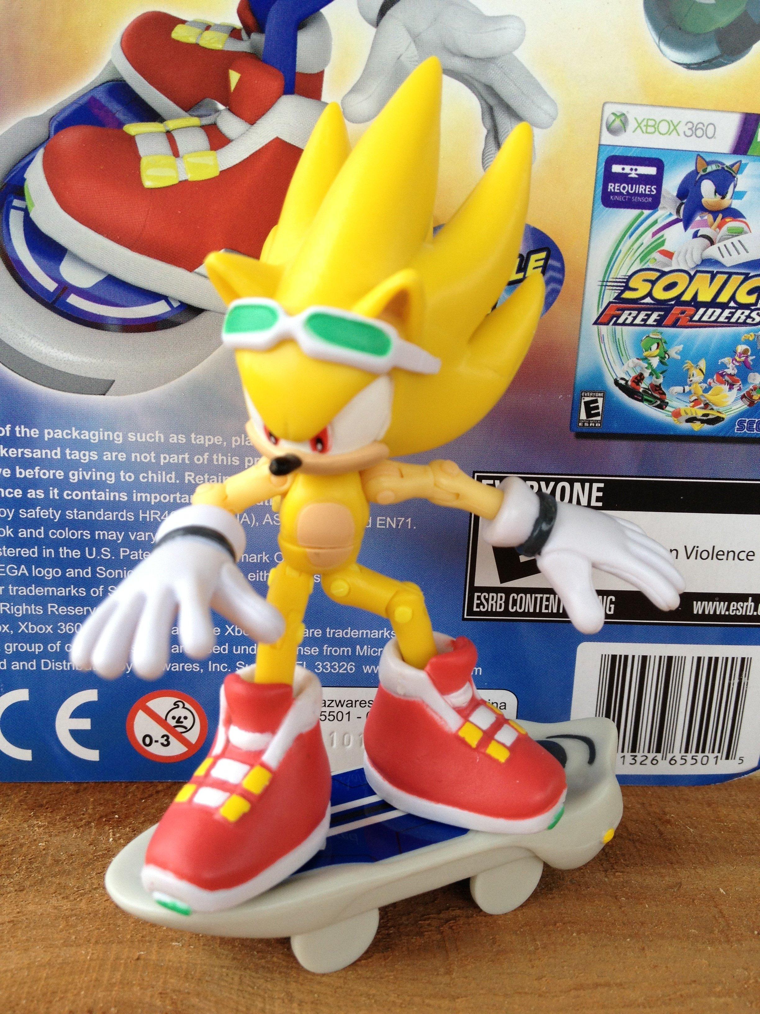 Custom Sonic Free Riders Super Sonic Figure By Hypershadow92 On Deviantart