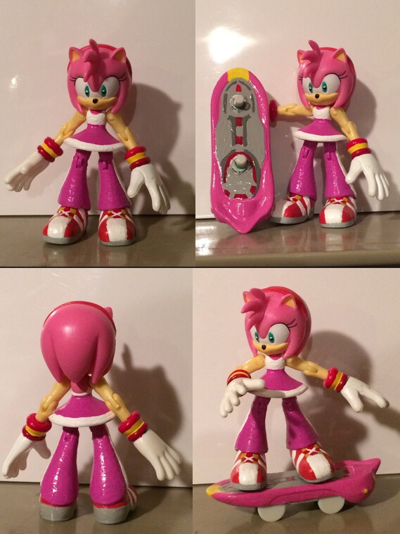 Sonic Free Riders Amy Rose Custom Figure By Hypershadow92 On Deviantart
