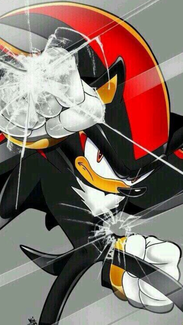 Shadow Punching IPhone 5 Screen Wallpaper By HyperShadow92