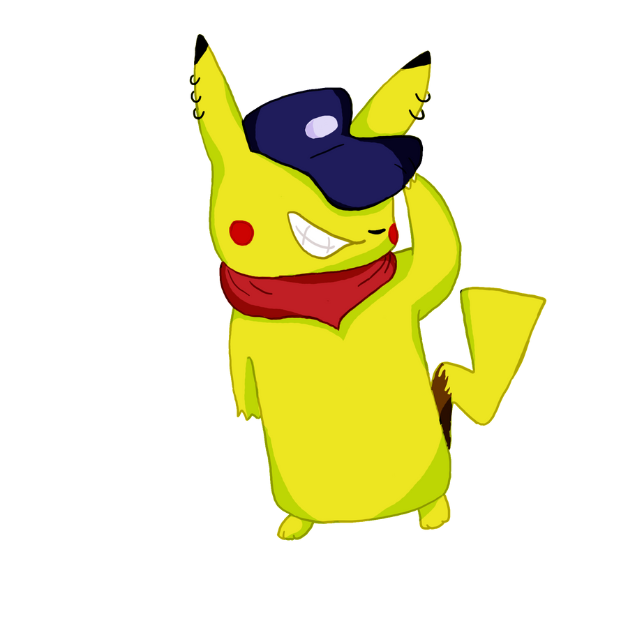 gangsta pikachu by mewryme
