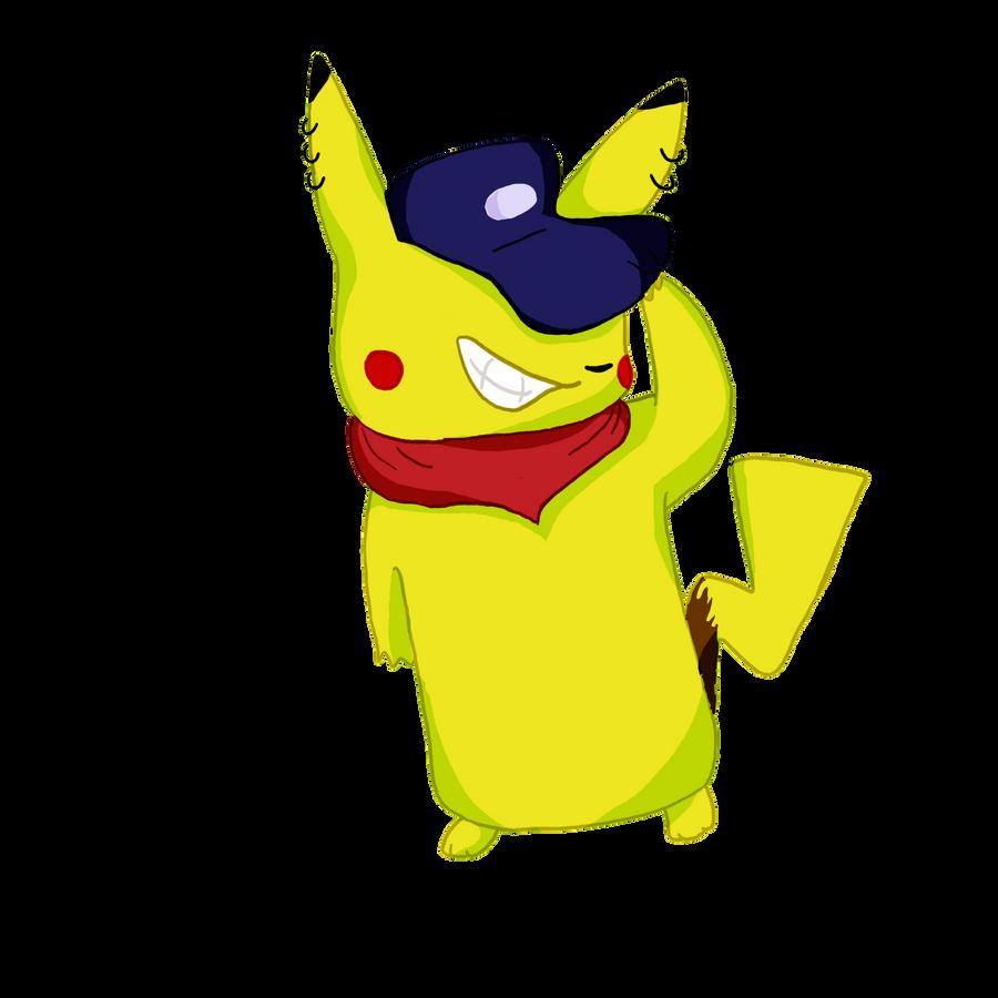 gangsta pikachu by mewryme