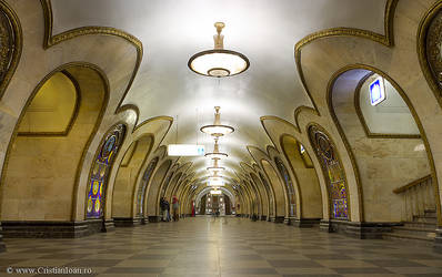 Moscow Metro Station by joanchris