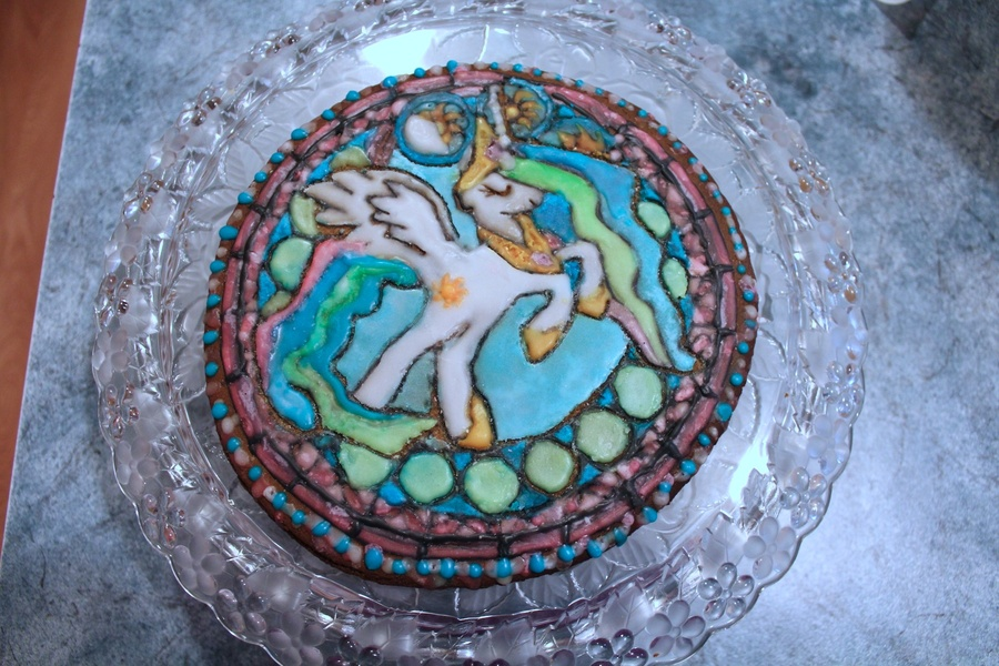 Stained Glass Princess Celestia Gingerbread by moonsugar33