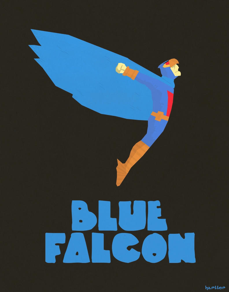 Blue Falcon by Hartter