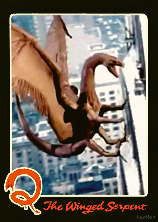 Q The Winged Serpent Trading Card by Hartter