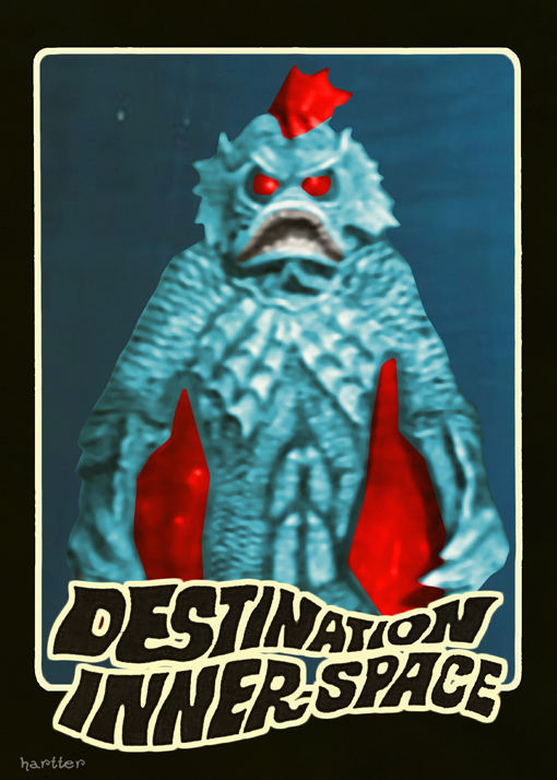 Destination Inner Space Tading Card by Hartter