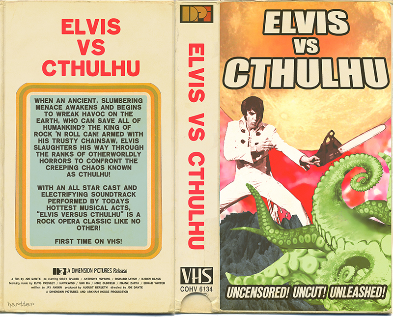 Elvis Vs Cthulhu VHS by Hartter