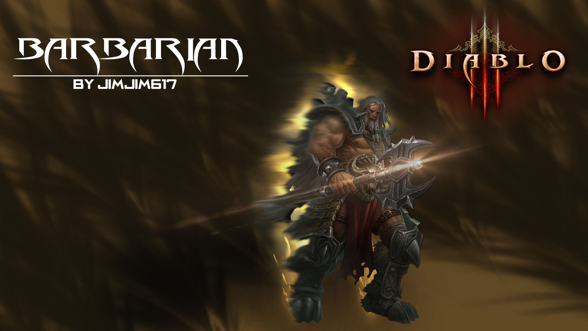 Diablo 3 1920x1080 Barbarian Wallpaper by jimjim617