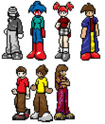 Charactor Sprite Sheet 01 by MajorMoonie