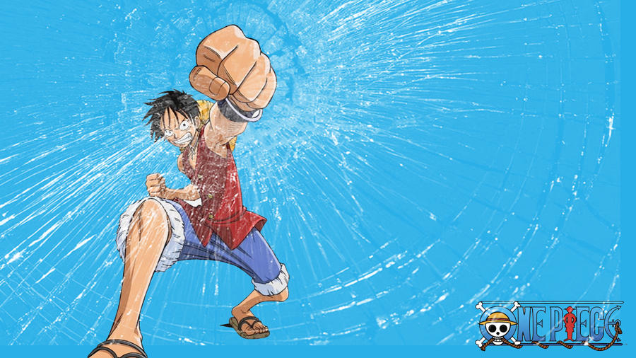 Luffy Screen Cracked Wallpaper By Ulquiorra3