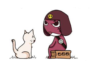 Giroro and the cat by Yuichan90