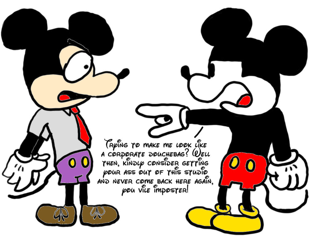 Mickey fires his South Park counterpart