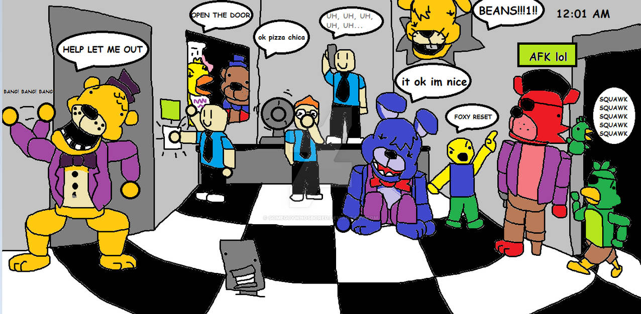 Fnaf 1 Roblox 12 Every Blockbears Roleplay In A Nutshell By Someguywhosbored On Deviantart