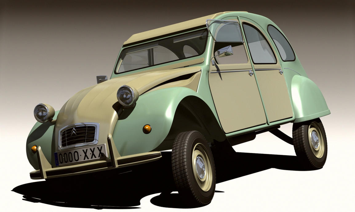 citroen 2cv by emigepa on deviantart