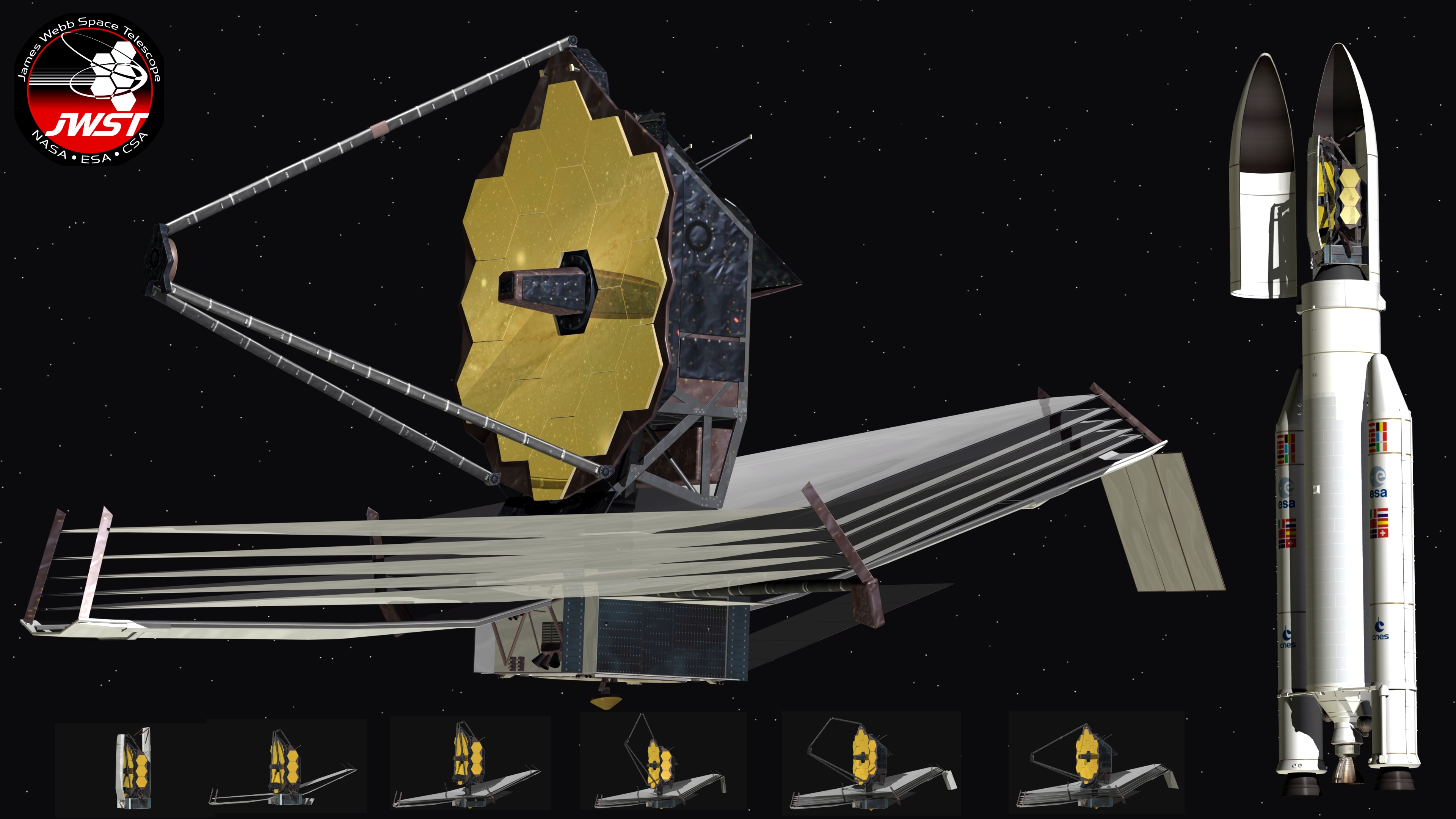 The James Webb Space Telescope |James Webb Telescope Drawing