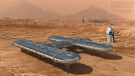 Modular Mars Habitat by Emigepa