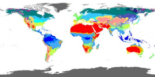 Present World Climate 10 km Resolution by GrantExploit