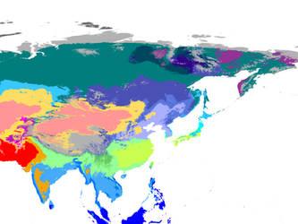Present World Climate 1 km: Orient Hexasphere by GrantExploit