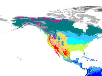 Present World Climate 1 km: New World Hexasphere by GrantExploit