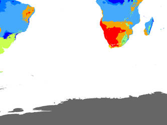 World Climate 2071-2100 1 km: 2 Souths Hexasphere by GrantExploit