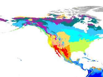World Climate 2071-2100 1 km: New World Hexasphere by GrantExploit