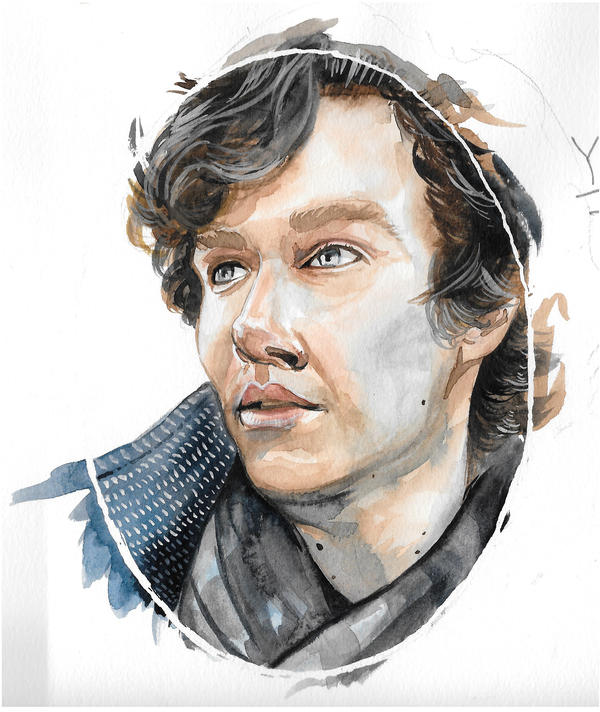 Sherlock watercolor by kahahuna