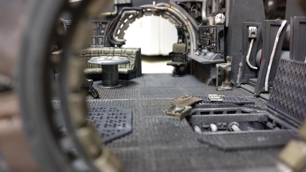Studio scale Millennium Falcon W.I.P. (4) interior by ProperRocket