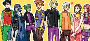Request- teen titans- digimon by teentitans