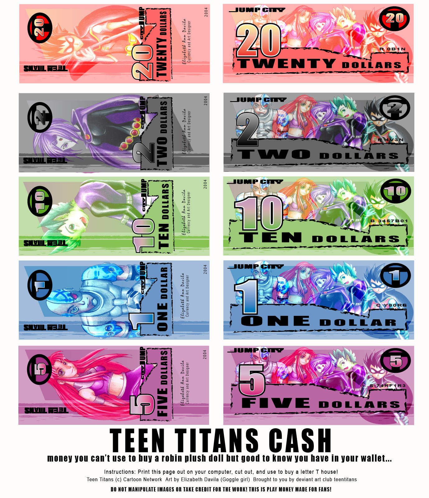 Teen Titans CASH by teentitans