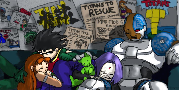 Sleeping Titans By Teentitans On Deviantart-9509