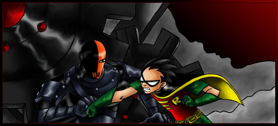 Robin VS Slade - Colored by teentitans