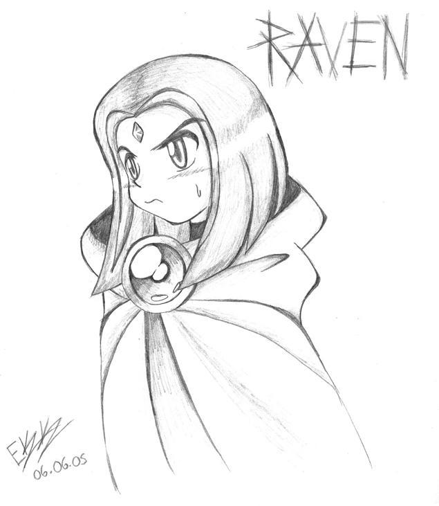 raven by evilkittykitty by teentitans on deviantart