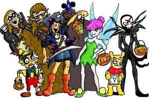 Villains' Halloween by Grumbum by teentitans