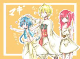 Magi: Aladin-Alibaba-Morgiana by erichankun