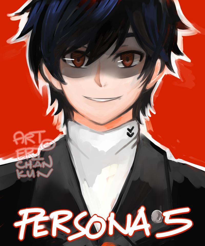 SPEEDPAINT p5 protagonist by erichankun