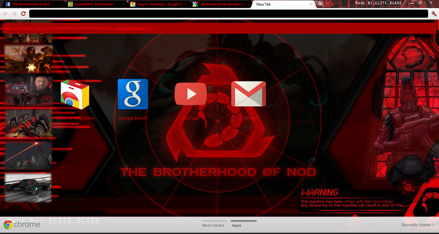 Brotherhood of Nod Google Chrome Skin by RaidenRaidenRaiden