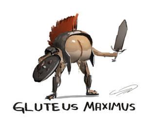 Gluteus Maximus by ConnyNordlund