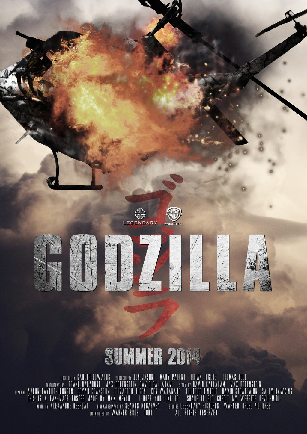 Godzilla Movie Poster by hardyzbest