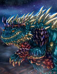 Space dragon armored by Negola