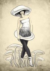mashroom-shaped party dress by parizzzz