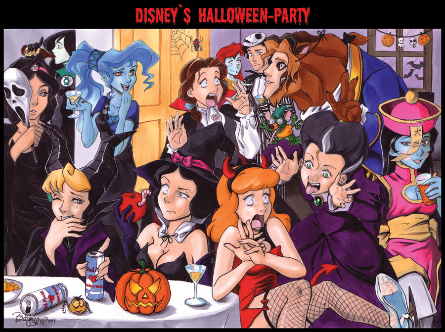disneys halloween party by abbadon82