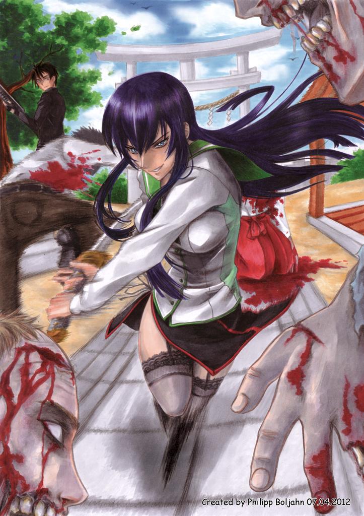 Saeko shows up by Abbadon82 on DeviantArt