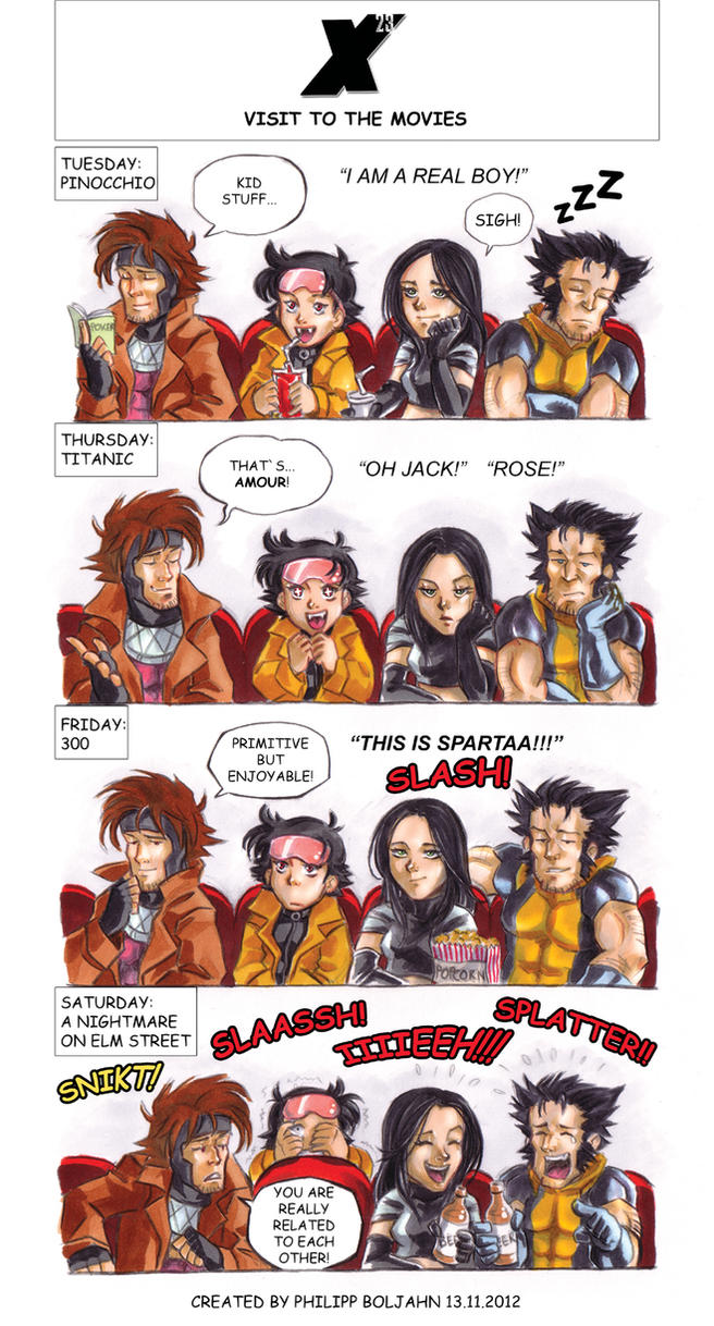 X 23 Gambit 23 - Visit to the Movi...