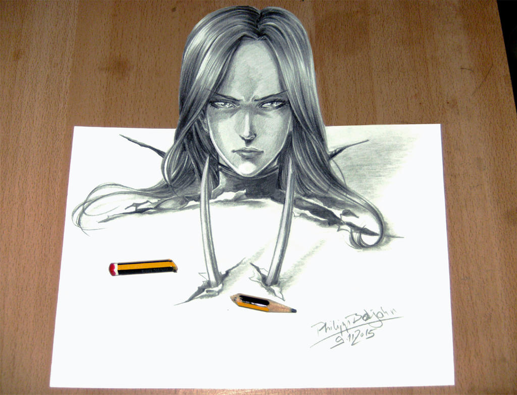 3D X-23 by Abbadon82