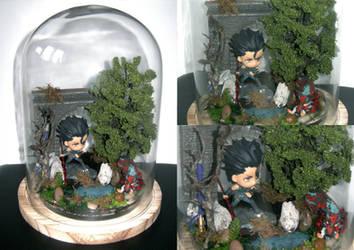 Diarmuid vs Demon Boar Diorama