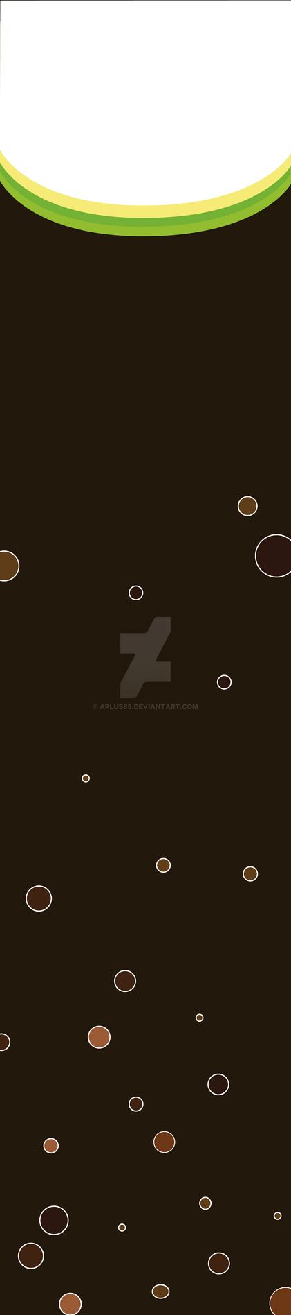 Vertical Banner Beverage (Brown) by aplus89