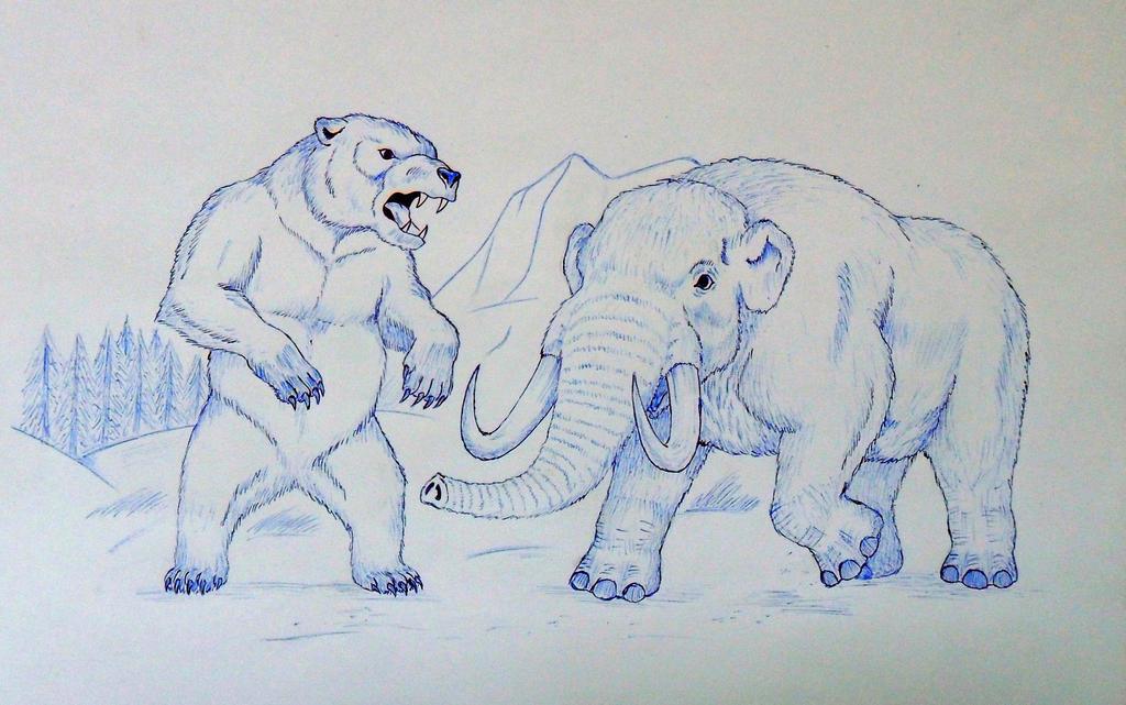how to draw a mastodon