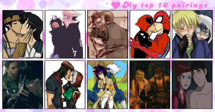 Fun Couple Meme : Top 10 fav couples meme by mashura di on deviantart